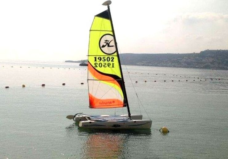 Sailing in Malta via catamaran