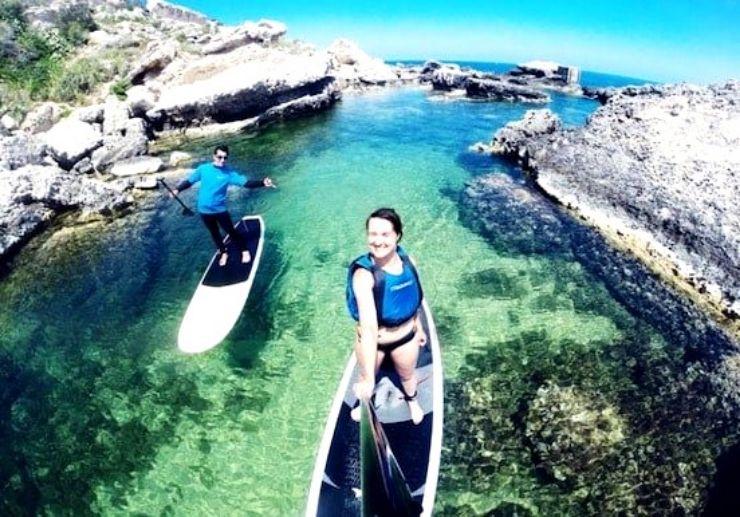 Explore Malta coastline on stand up paddle
