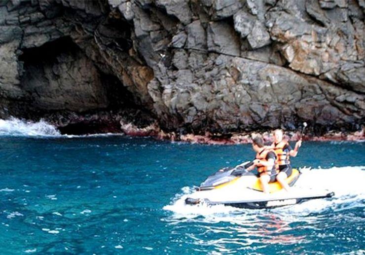 Jetski tour along Tenerife coastal landscapes
