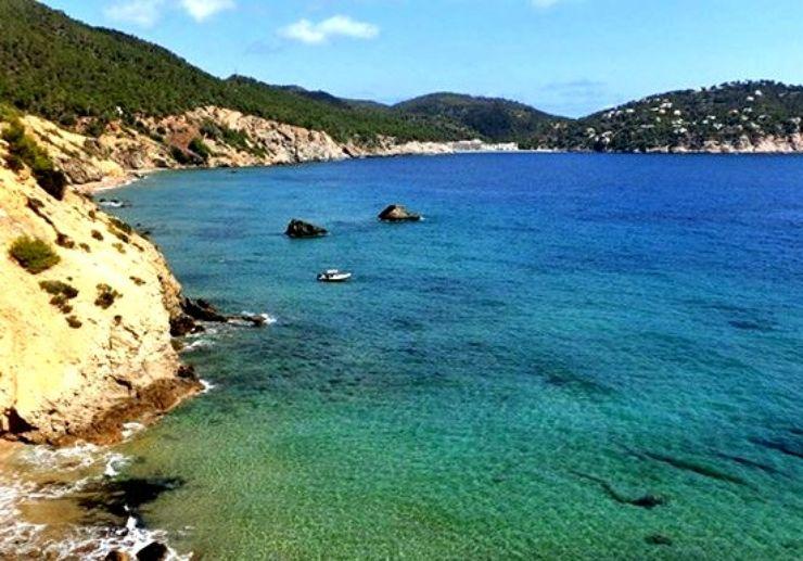 Ibiza coastal view for mountain bike tour