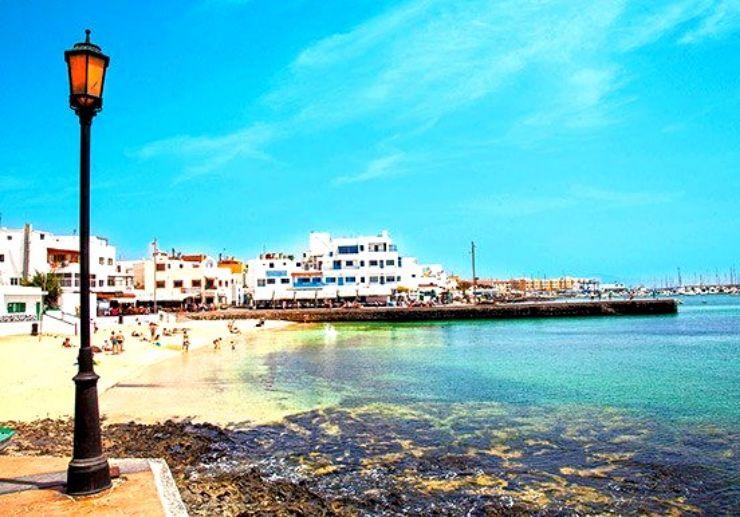 Beach town of Corralejo Fuerteventura