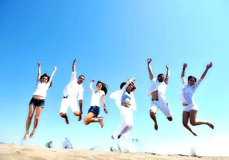 Fun jump shot at Corralejo Sand Dunes
