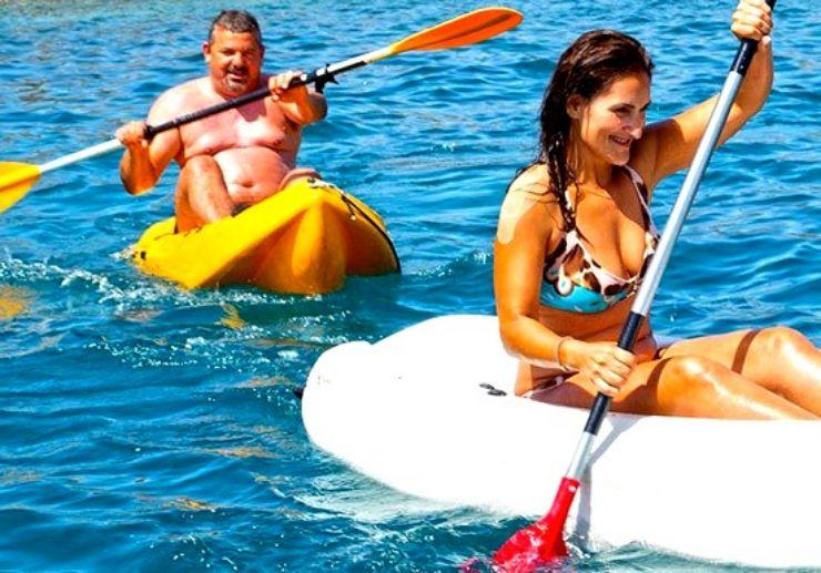 Glassbottom boat and kayaking in Papagayo