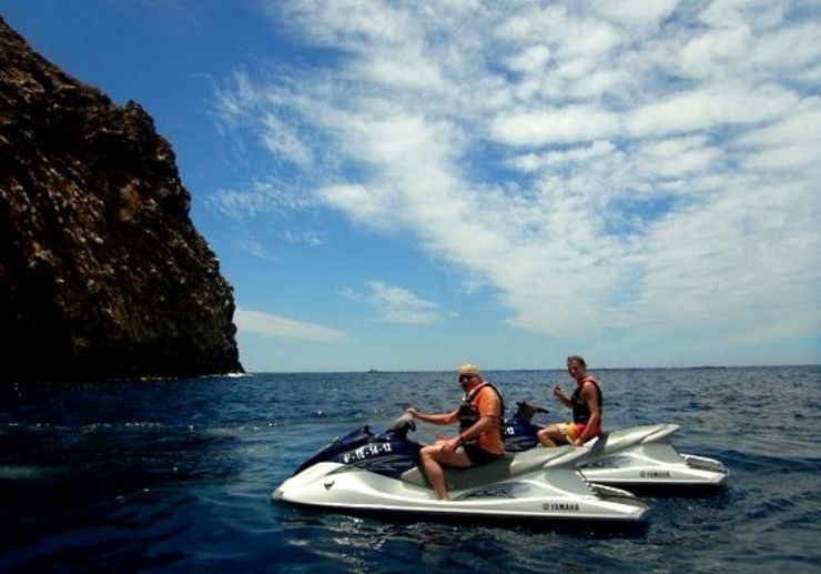 Jet ski tour and parascending combo Tenerife