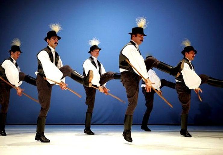 Folk dance performers in Hungary