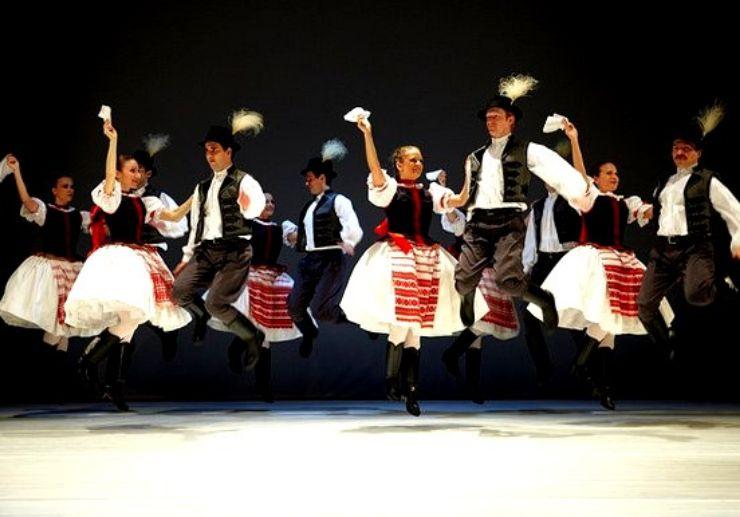 Folk dancing in Hungary