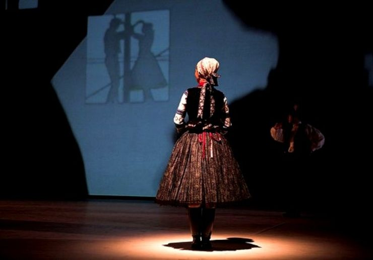 Folkore performance in Hungary