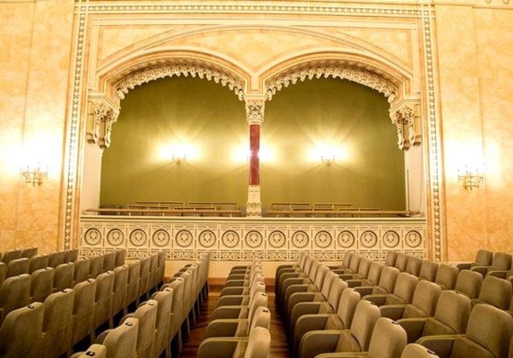 Danube palace interior seating for Hungarian gala concert