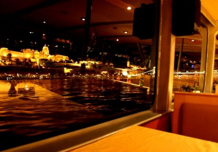 Budapest panorama from the dinner cruise ship