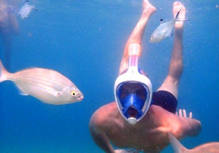 Full face mask snorkelling in Puerto del Carmen