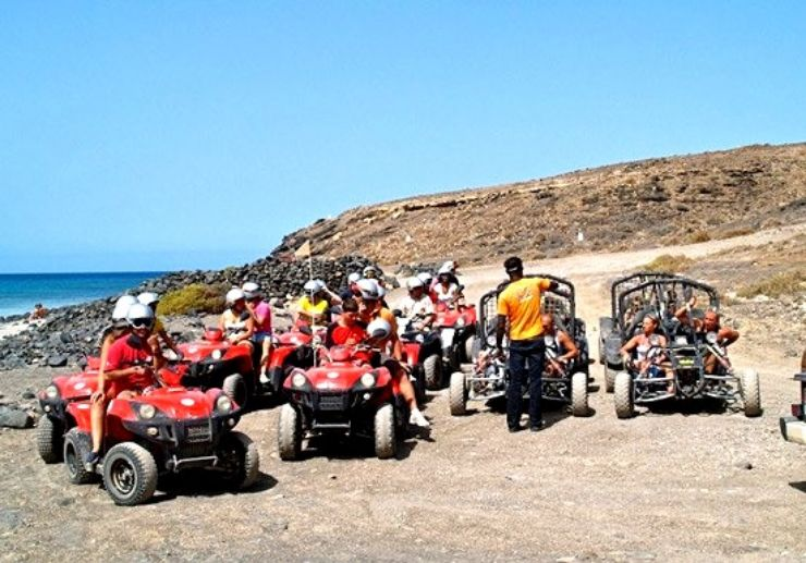 Jandia quad and buggy tour beach and landscape