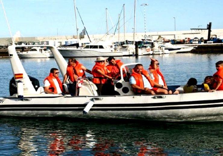 Water taxi boat in Tenerife