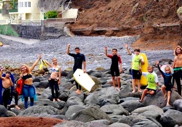 Bodyboard lessons in Punta del Hidalgo