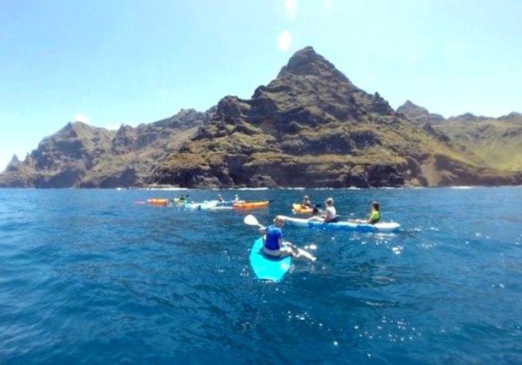 Kayaking and stand up paddling Tenerife north