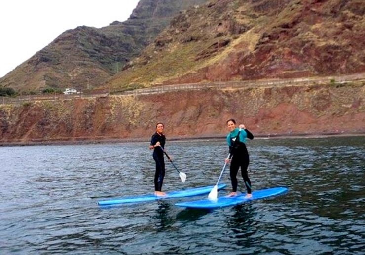 Stand up paddle in Punta del Hidalgo