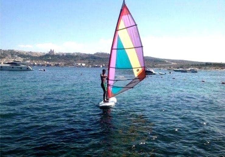 Windsurfing taster in Malta