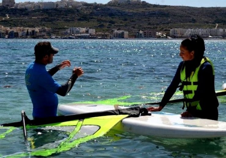 Learn how to windsurf in Malta