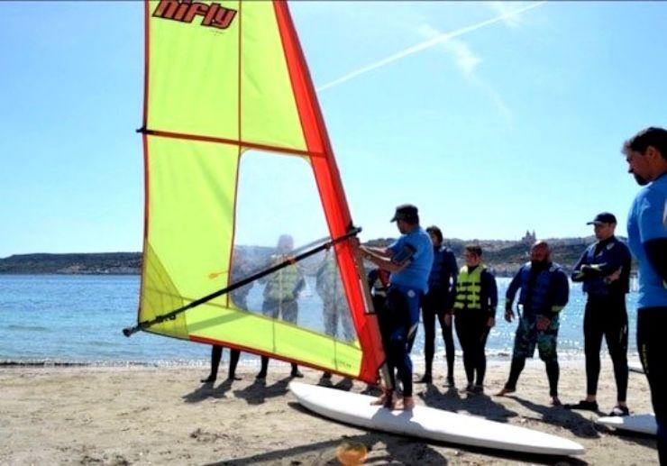 Malta windsurfing lessons