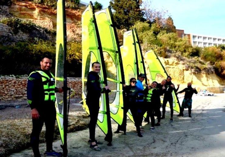 Windsurfing lesson in Malta