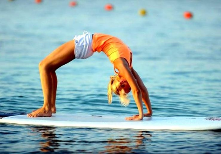 Stand up paddle yoga at Mellieha bay
