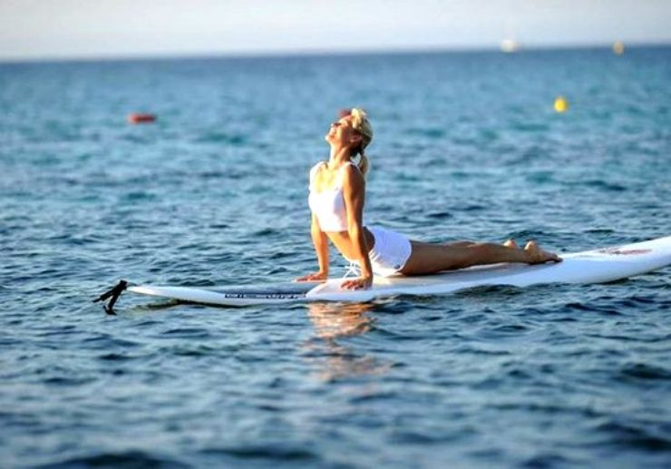 Yoga on SUP in Malta