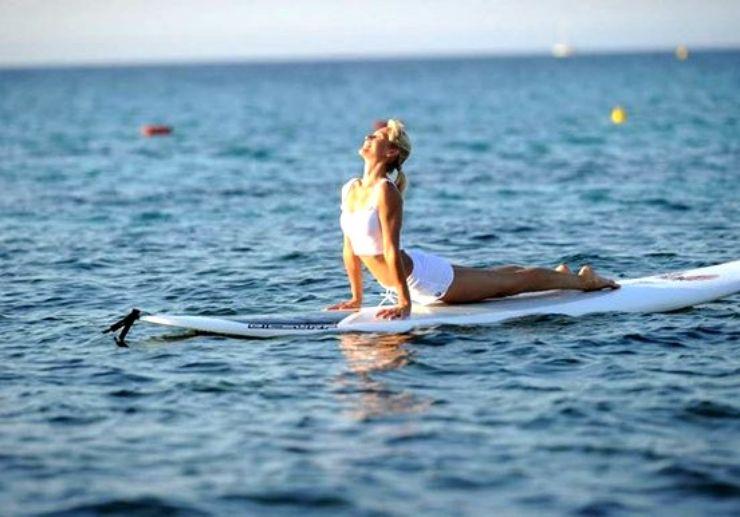 Yoga on SUP in Malta