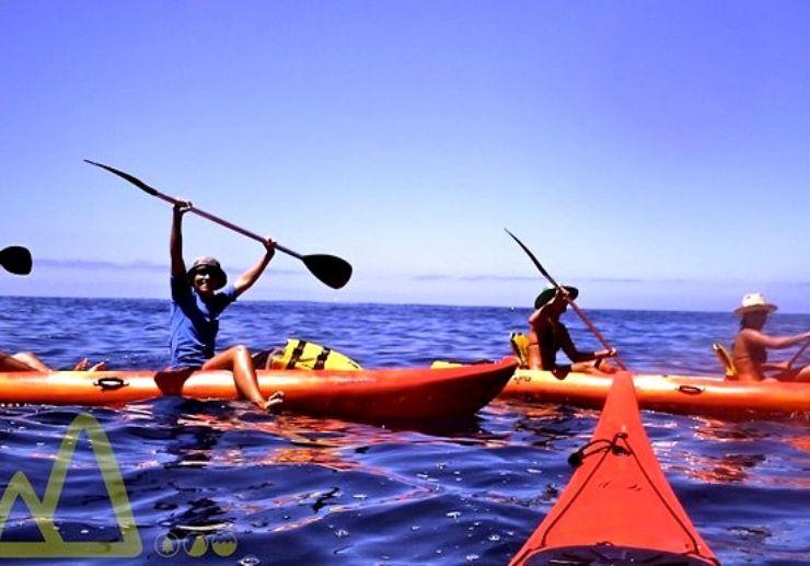 Kayak excursion in La Palma