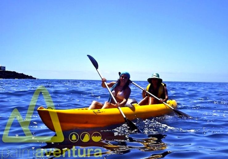 Kayaking in La Palma sea waters