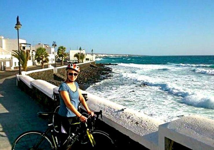 Road bike tour along Lanzarote coast