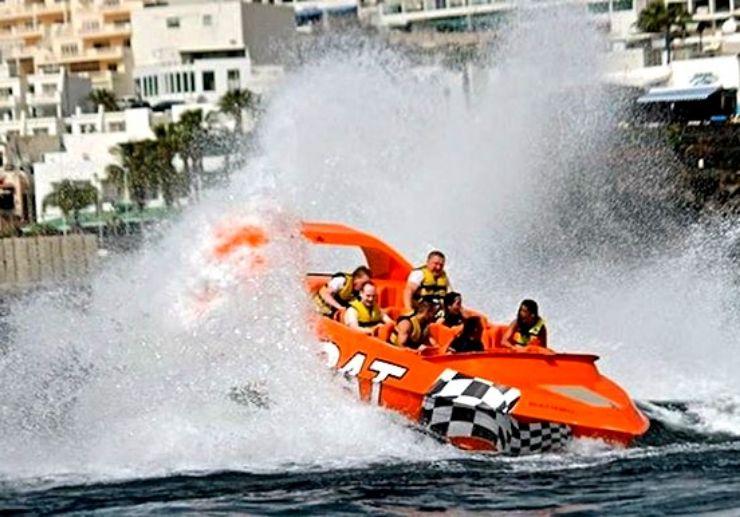 Adrenaline jetboat ride in Puerto Carmen