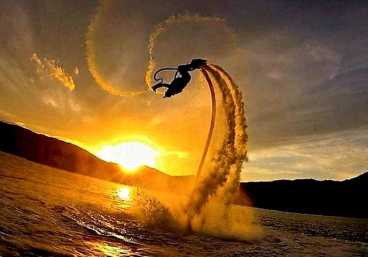 Test your balance with flyboard in Lanzarote