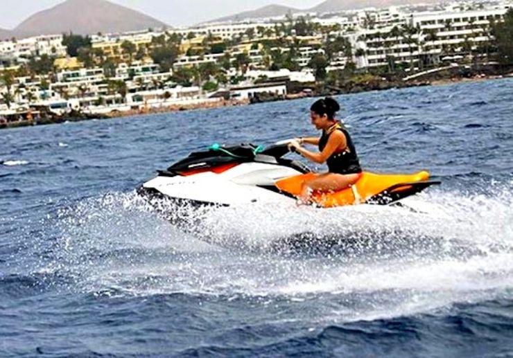 Playa Blanca jetski circuit ride