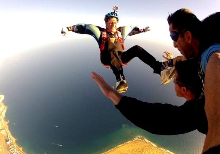 Skydive above impressive landscape of Gran Canaria