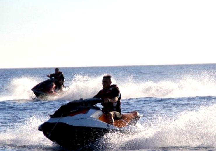 Jet ski ride combo with quad tour in Tenerife