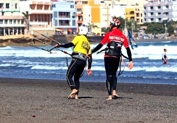 Kite surfing Day one practise