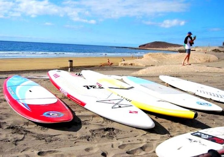 Infront of the Surf Academy in El Medano