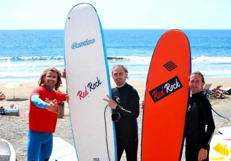 El Medano Surf with friends and family