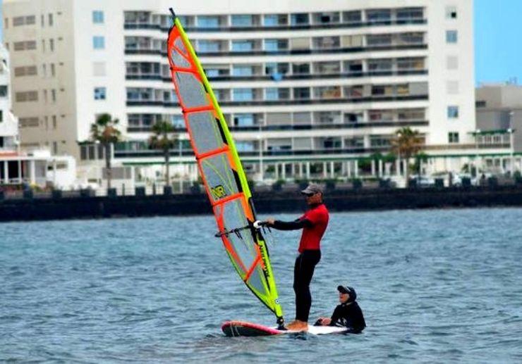 El Medano Windsurfing teaching on progress