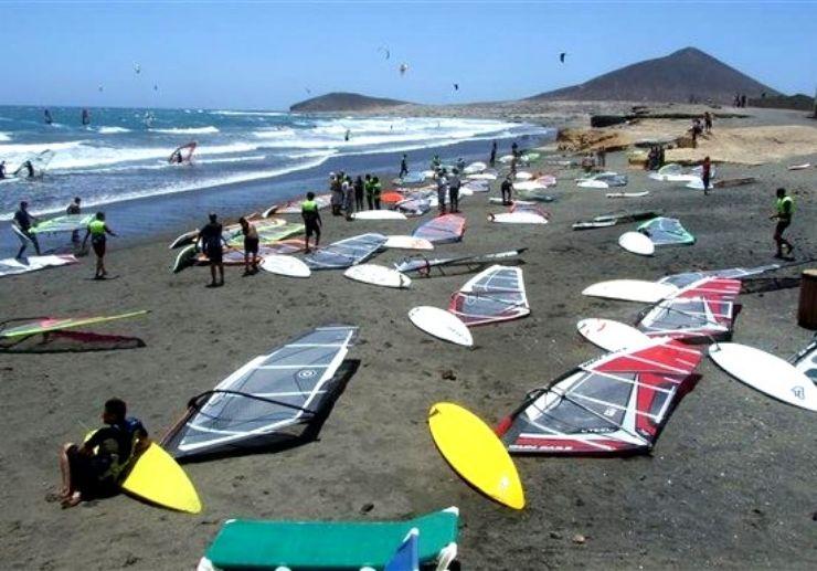 El Medano the mecca for windsurfing in Tenerife