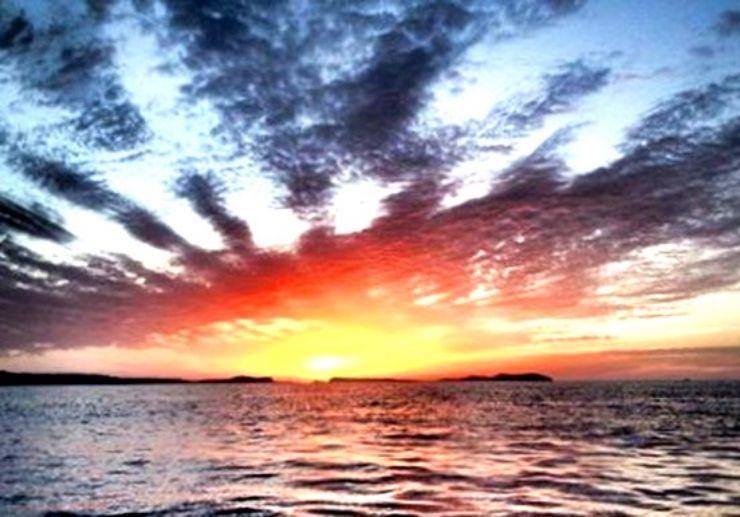 Amazing sunset in Ibiza