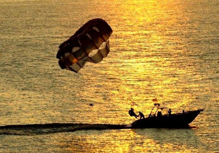 Ibiza paragliding sunset