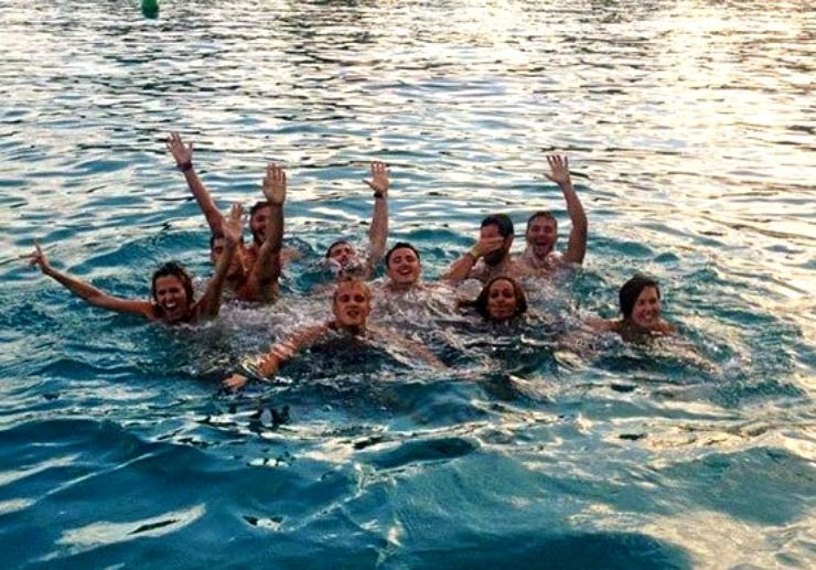 Swim in Ibiza via speed boat adventure