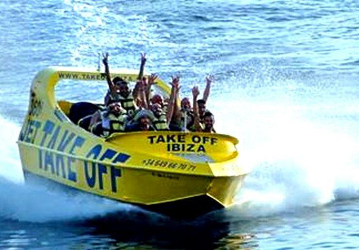 Adrenaline Jet boat 360° in Ibiza