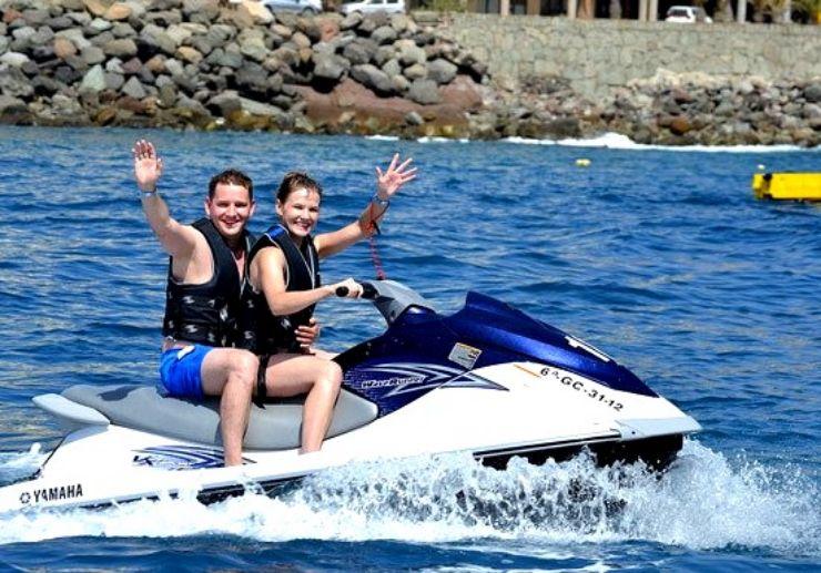 Jetski circuit ride in Playa Taurito