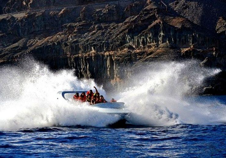 Adrenaline jet boat ride in Gran Canaria