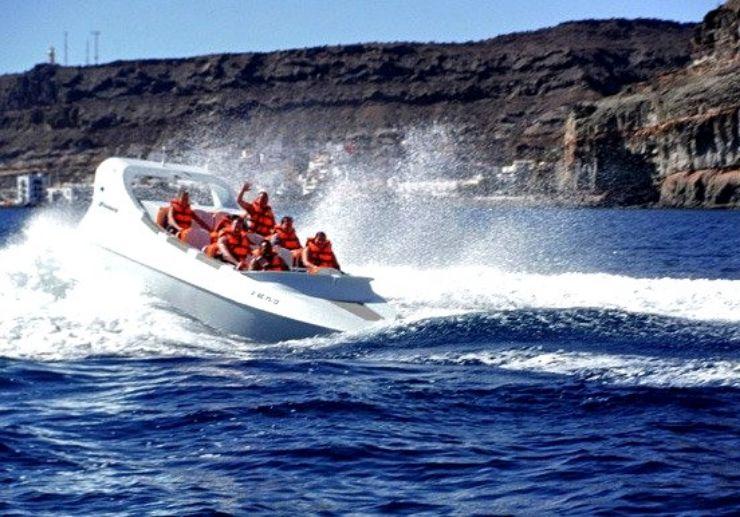 Gran Canaria jet boat in Playa Mogan