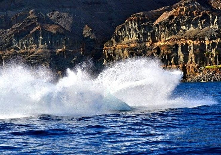 Thrill and splash on jet boat Playa Taurito