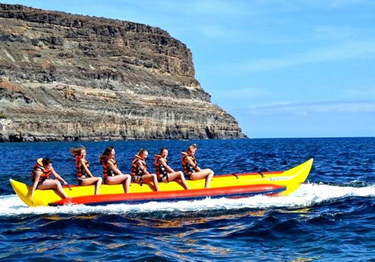 Banana boat in Gran Canaria