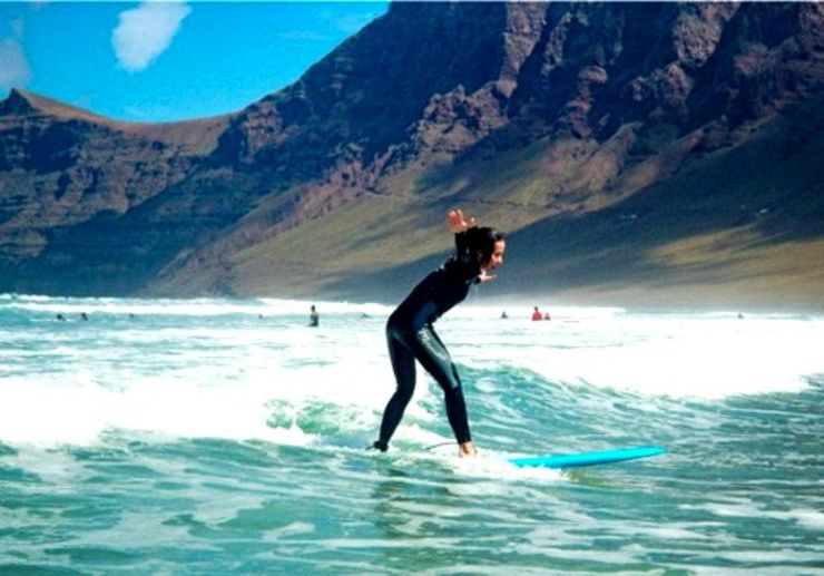 Surfing in Lanzarote