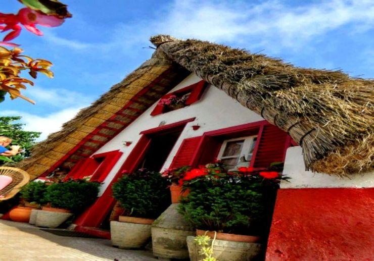 Stone houses in Santana Madeira